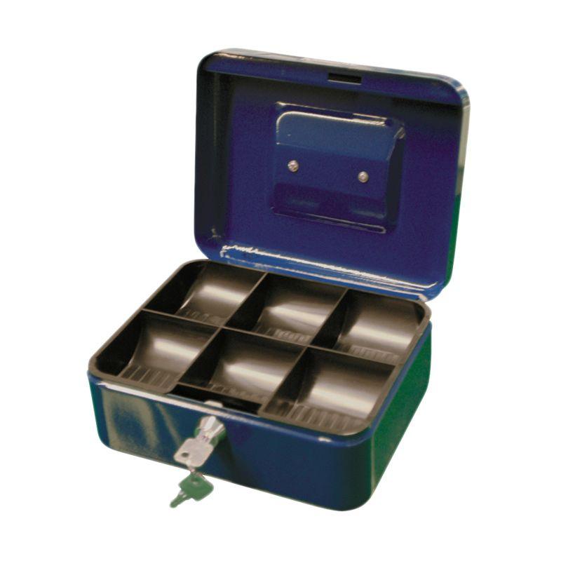 Krisbow Biru Cash Box [200 x 160 x 90 mm]
