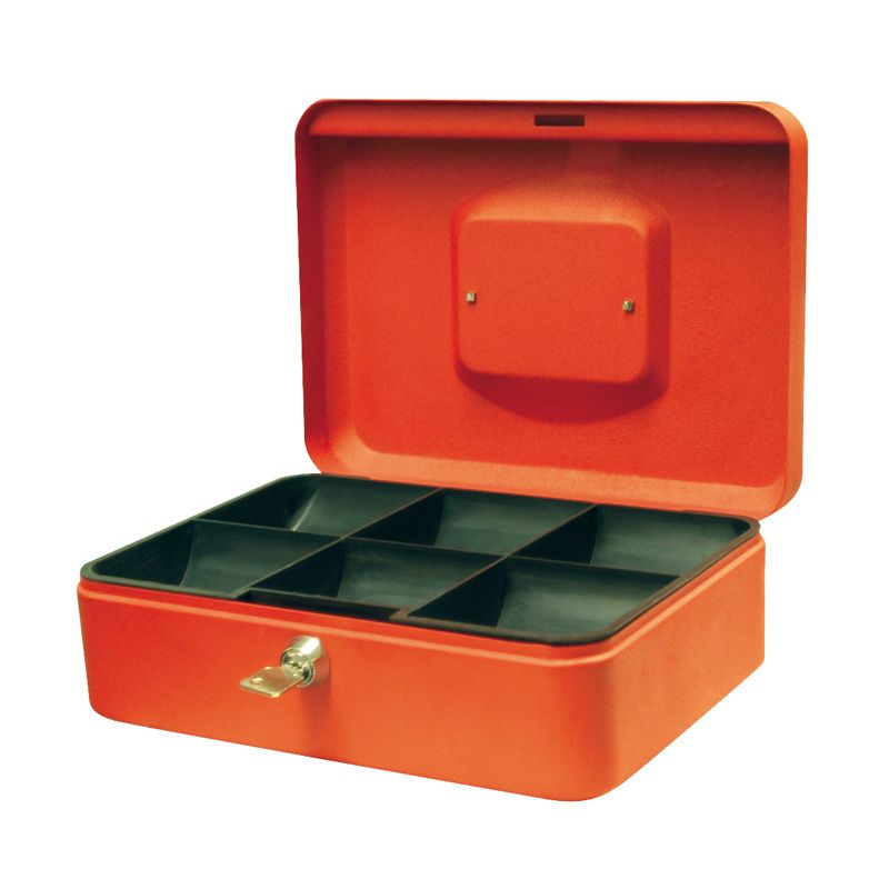 Krisbow Oranye Cash Box [250 x 180 x 90 mm]