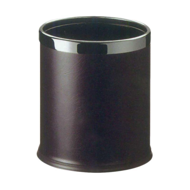 Krisbow Round Guest Room Dustbin Black Tempat Sampah [22.5 x 27 cm]