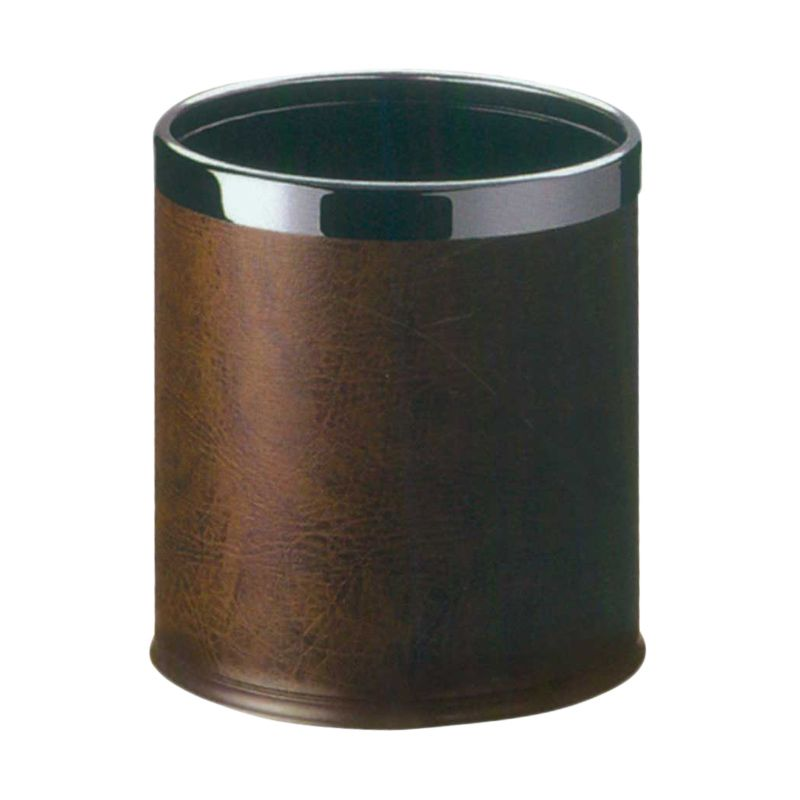 Krisbow Round Guest Room Dustbin Brown Tempat Sampah [22.5 x 27 cm]