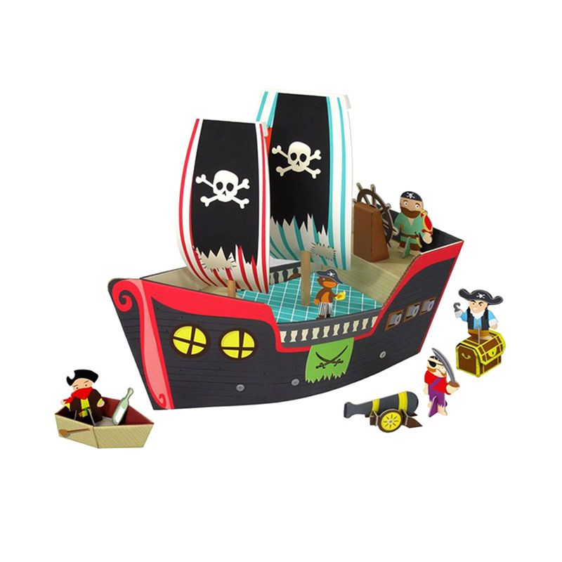 Kroom Cooper Pirate Ship Mainan Anak