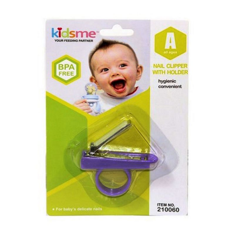 Kidsme Nail Clipper With Holder Purple