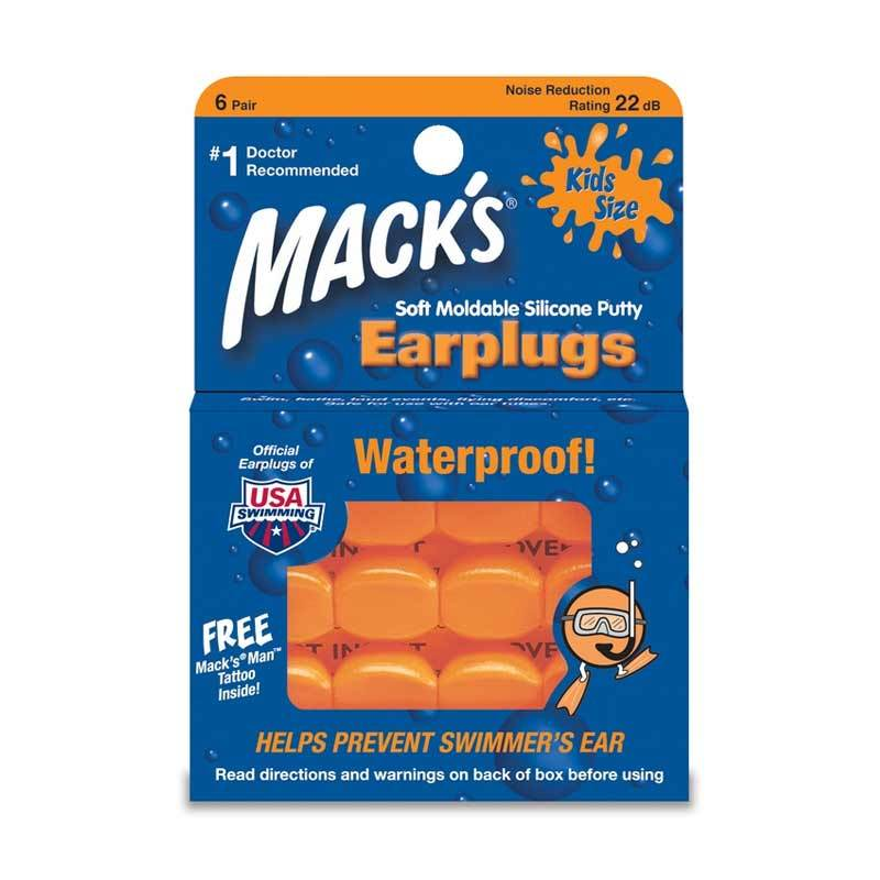 Mack's Earplug Kids Orange 6 pairs