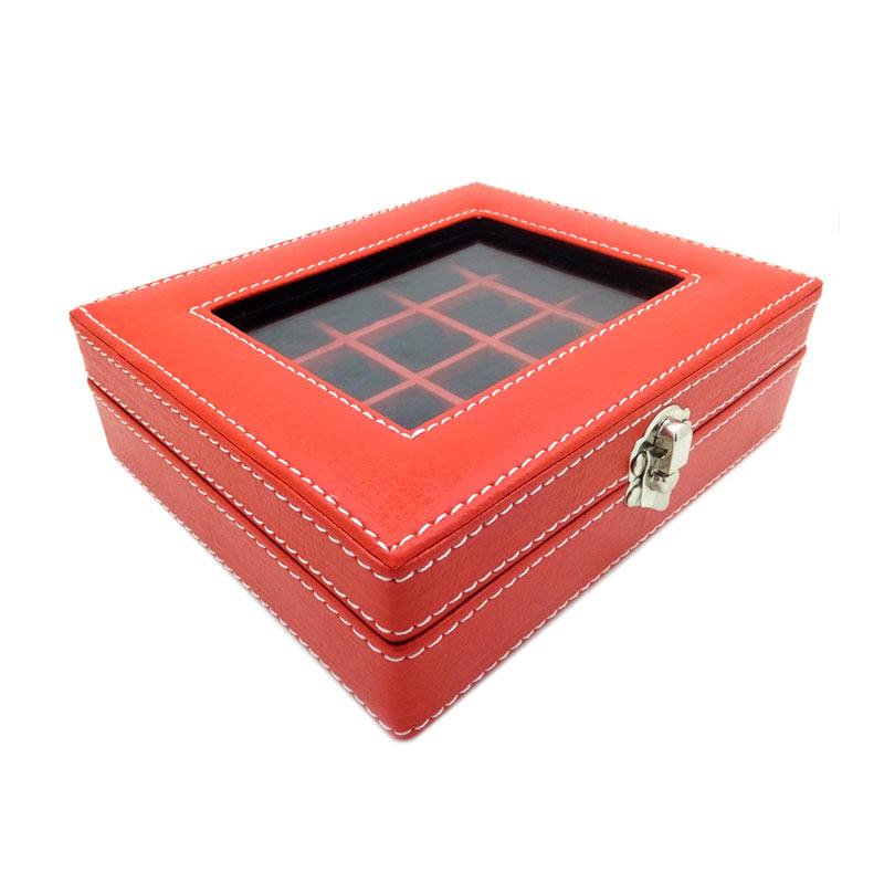 Jual Kualitas Super Kotak Box Cincin Batu Akik Merah Hitam