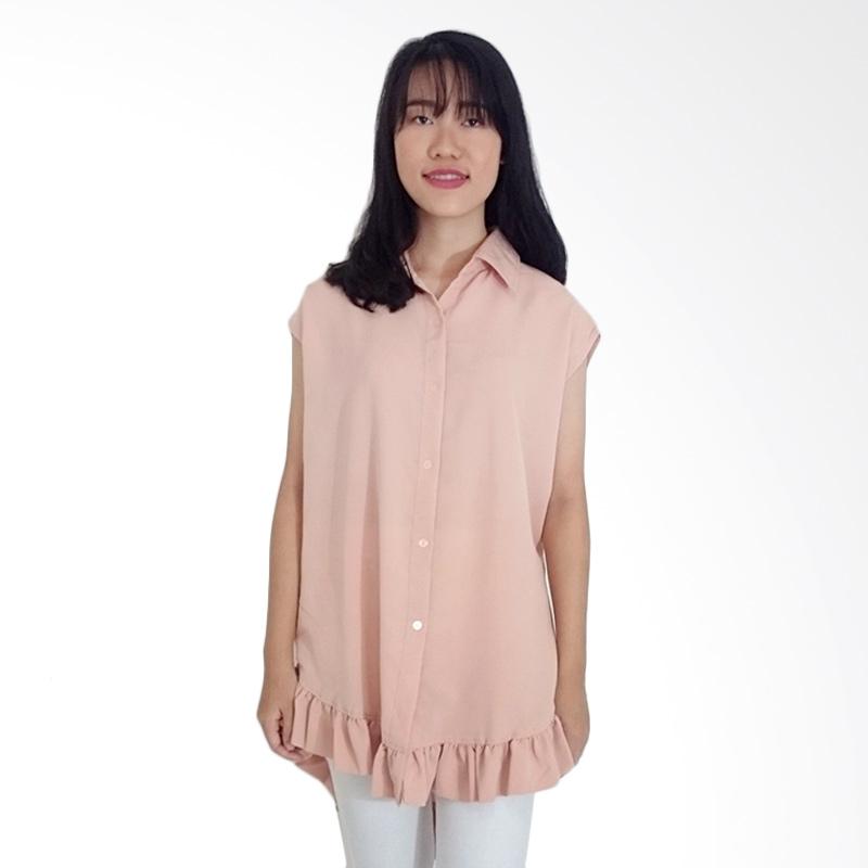 KULO Tiana Loose Shirt Blouse - Peach