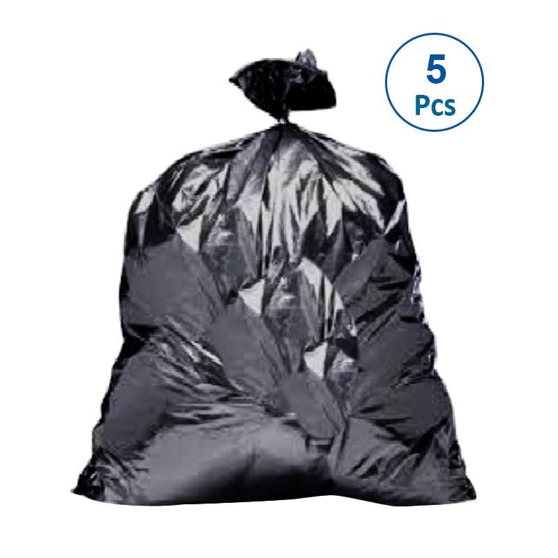 Kuruchiru Kantong Plastik Sampah - Hitam [50 x 75 cm/5 pack]
