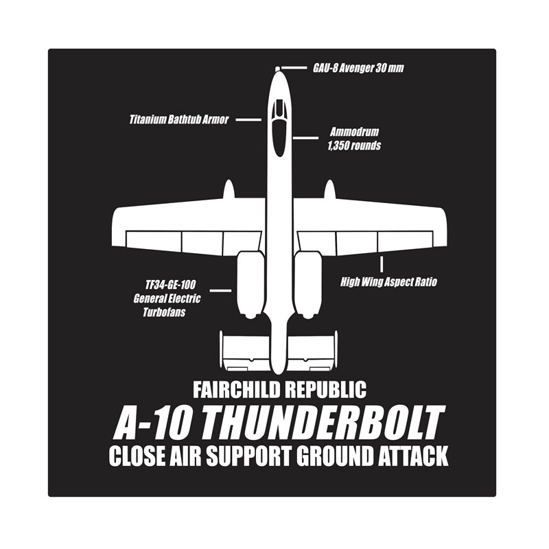 Kyle A-10 Thunderbolt Cutting Sticker