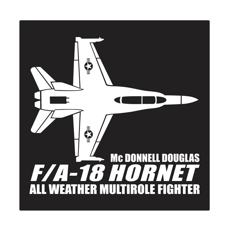 Kyle F-18 Hornet Cutting Sticker