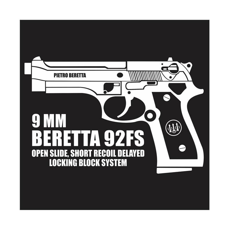 Kyle Beretta 92FS Cutting Sticker
