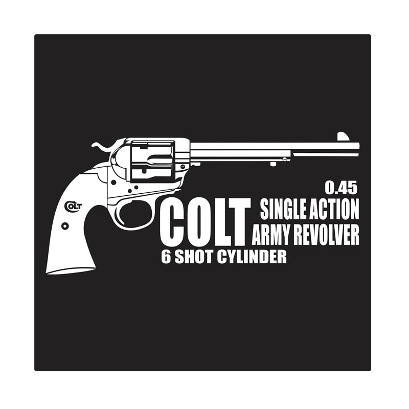 Kyle Colt Single Action Revolver Cutting Sticker