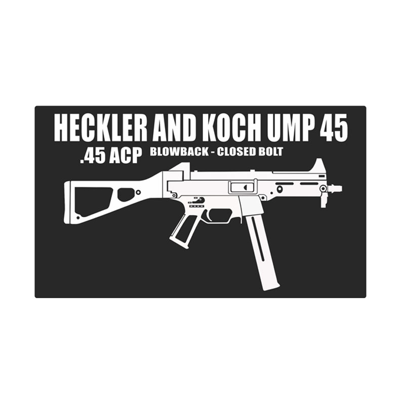 Kyle Heckler & Koch UMP45 Cutting Sticker