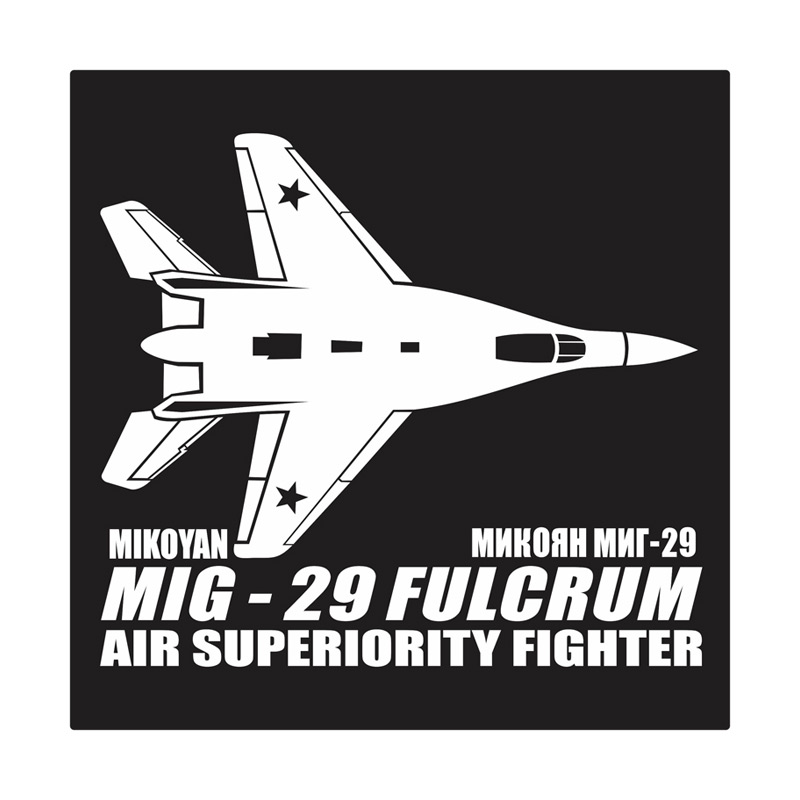 Kyle MIG-29 Fulcrum Cutting Sticker