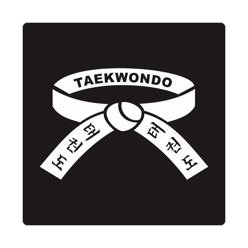 Kyle Taekwondo Belt Cutting Sticker