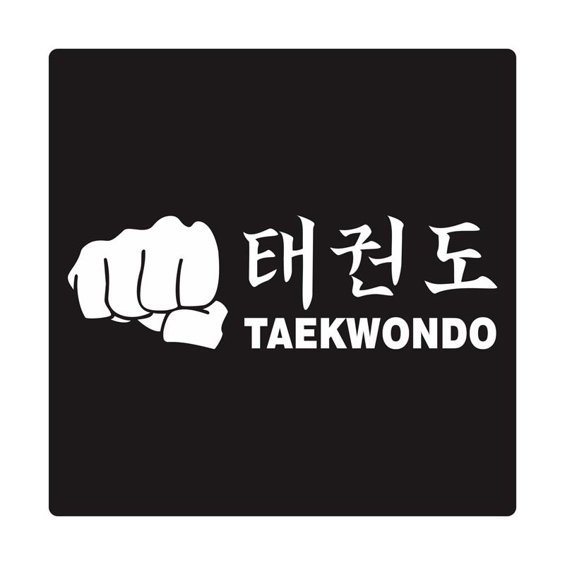 Kyle Taekwondo Fist Cutting Sticker