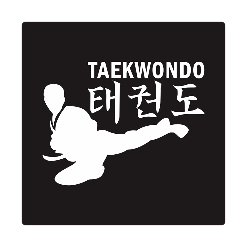 Kyle Taekwondo Kick Cutting Sticker