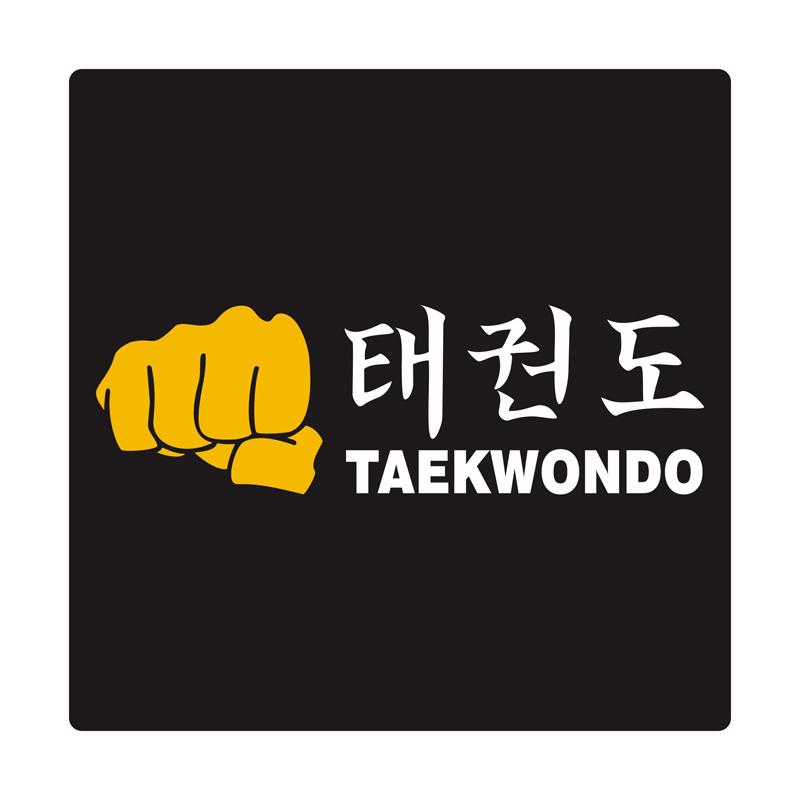 Kyle Taekwondo Yellow Fist Cutting Sticker