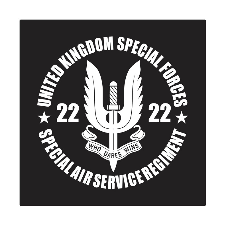 Kyle U.K. Special Forces Special Air Service Cutting Sticker