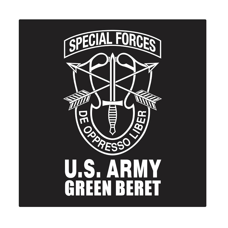 Kyle U.S. Army Green Beret Special Forces Cutting Sticker