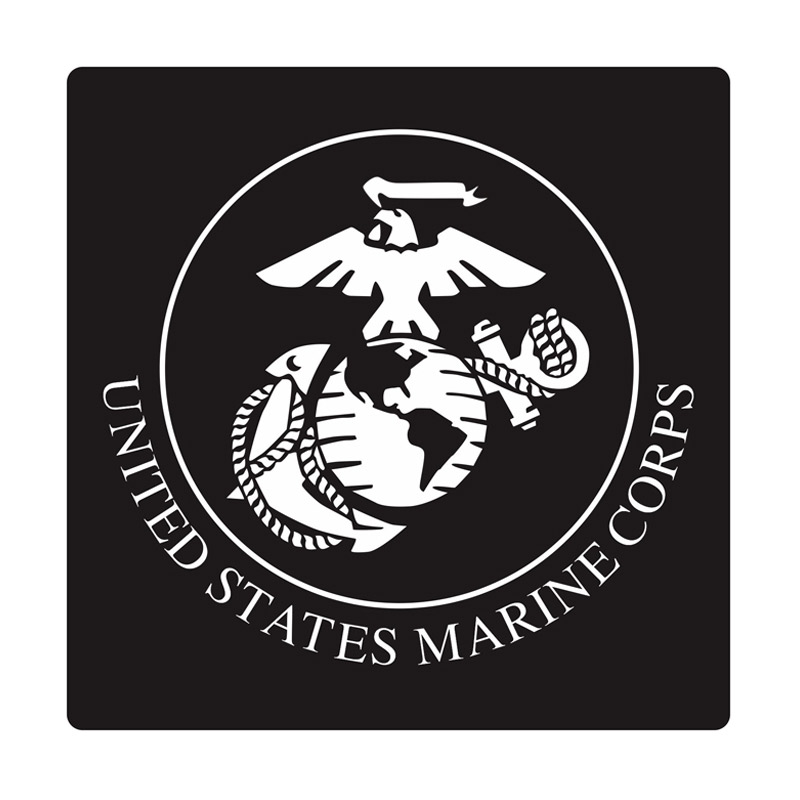 Kyle U.S. Marine Round Cutting Sticker