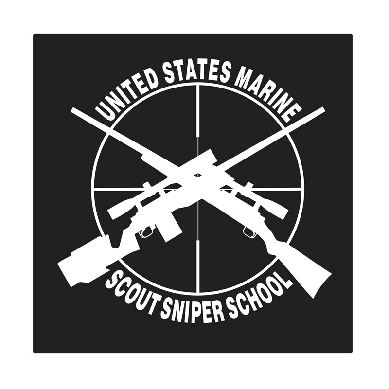 Kyle U.S. Marine Scout Sniper Cutting Sticker