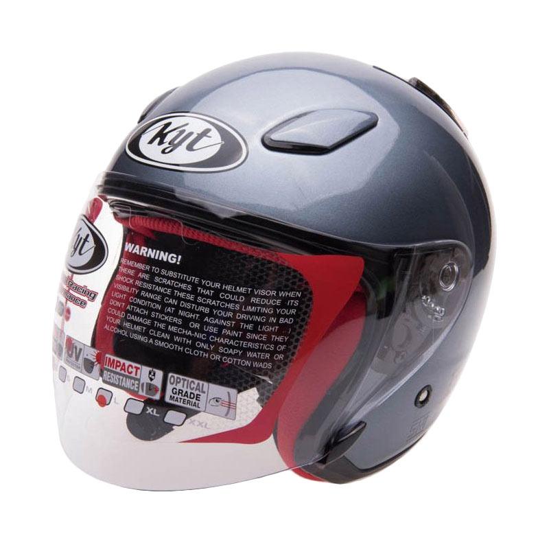 harga KYT Dj Maru Solid Helm Half Face - Grey Blibli.com