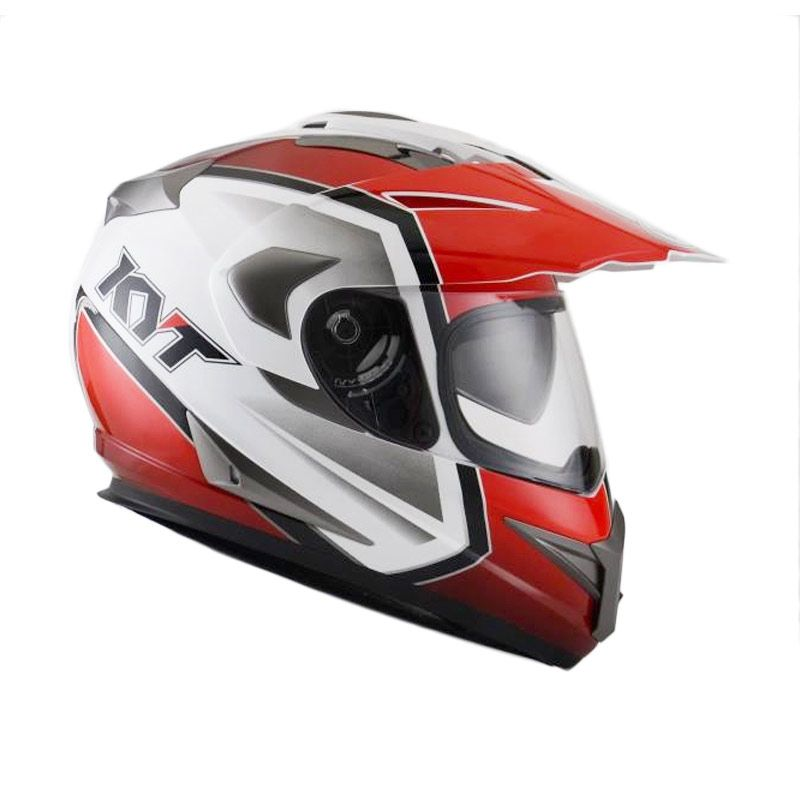 KYT ENDURO #1 WHITE/RED/BLACK Helm Full Face