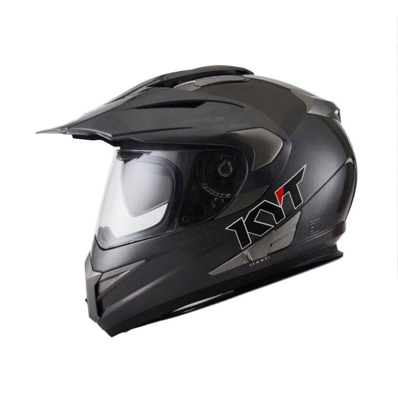 KYT ENDURO SOLID GUN METAL Helm Full Face
