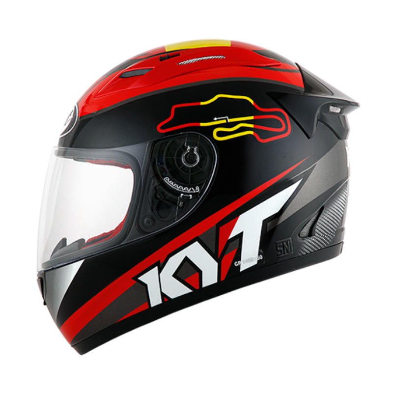 Jual KYT RC Seven 15 Spain Black Helm Full Face Online