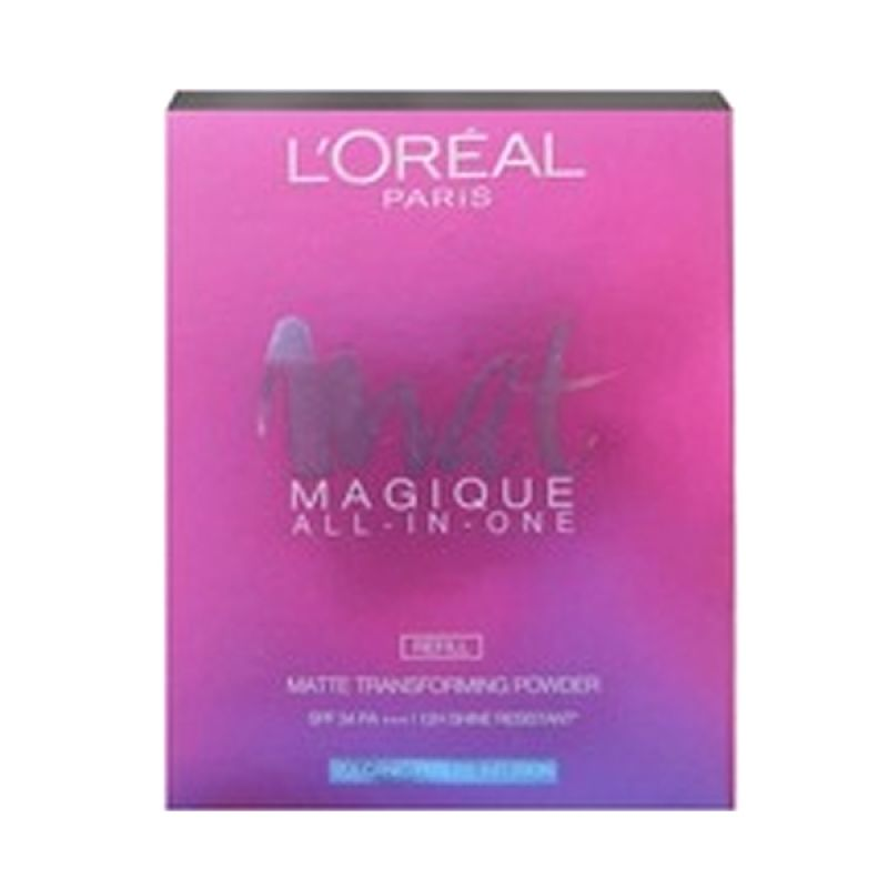 L'Oreal Paris Mat Magique Two Way Cake N1 Nude Ivory Compact Powder Bedak [Refill]