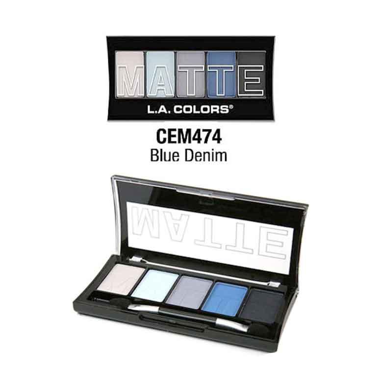 LA Colors Matte Blue Denim Eyeshadow