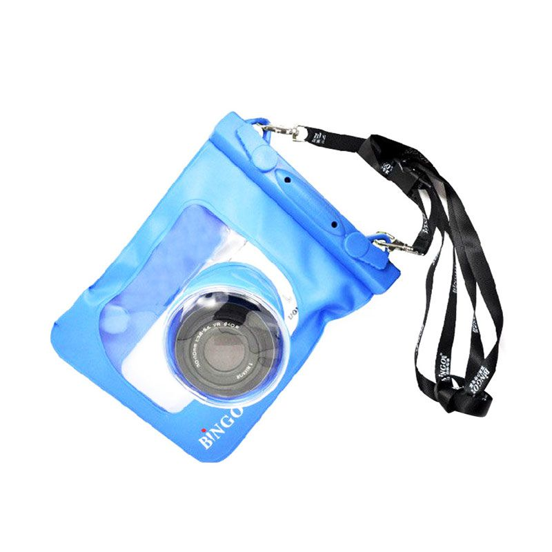 Bingo WP01-15 Biru Waterproof Bag for Camera Pocket or Mirrorless