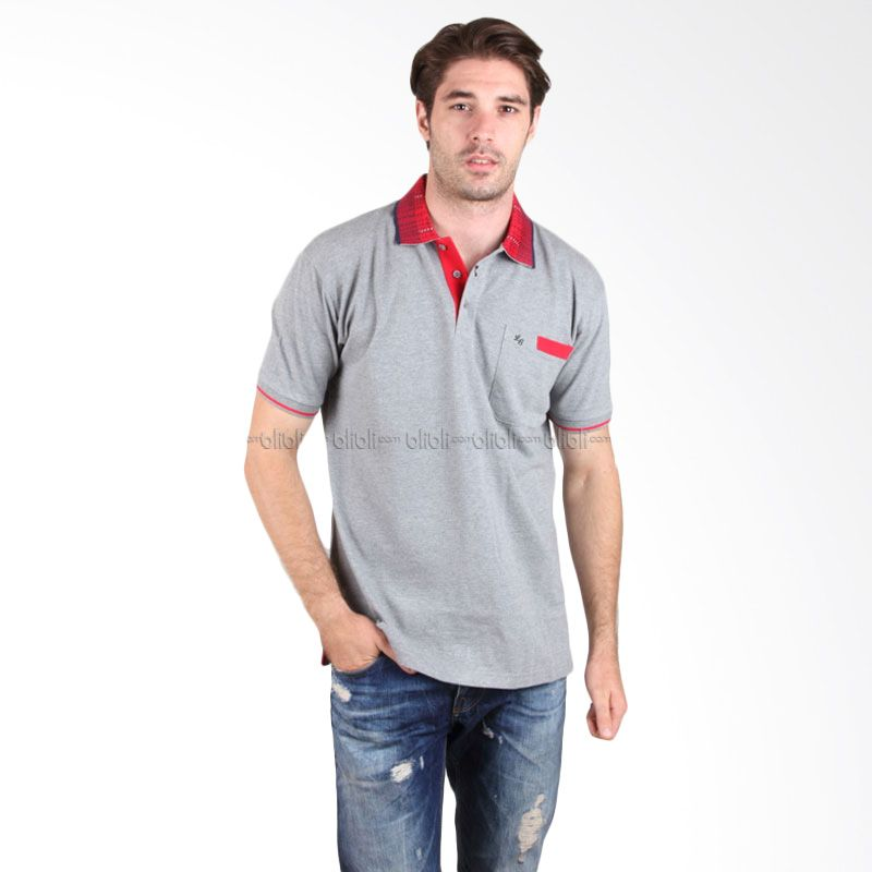 Labette Polo Shirt 102320409 Light Grey With Print Collar