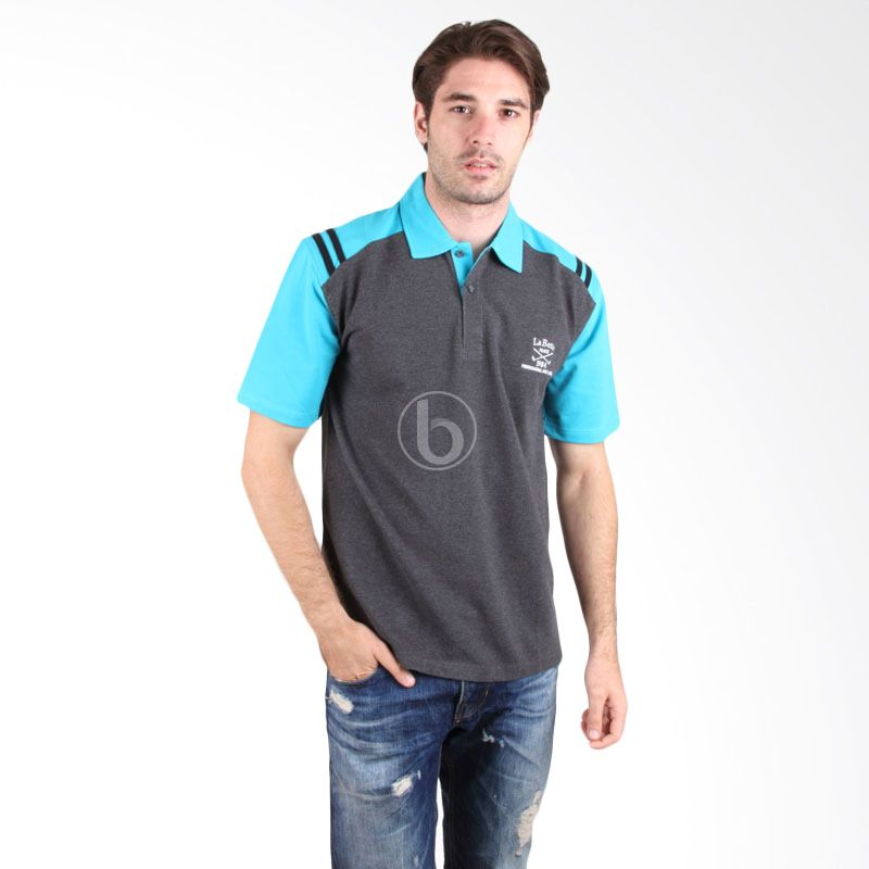 Labette Polo Shirt 102461419 Dark Grey Stripes Blue