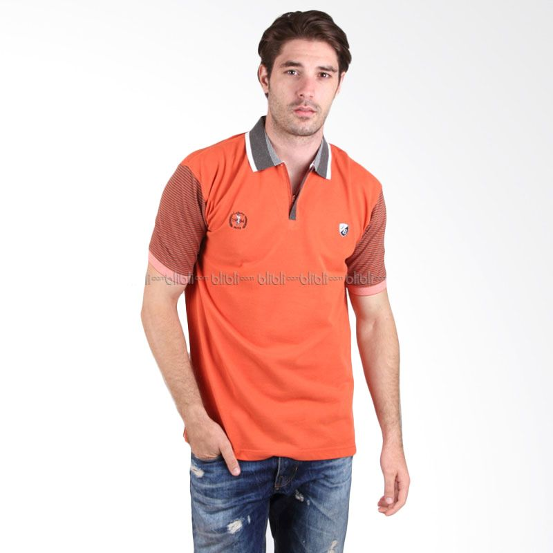 Labette Polo Shirt 103430606 Orange Stripes Sleeve