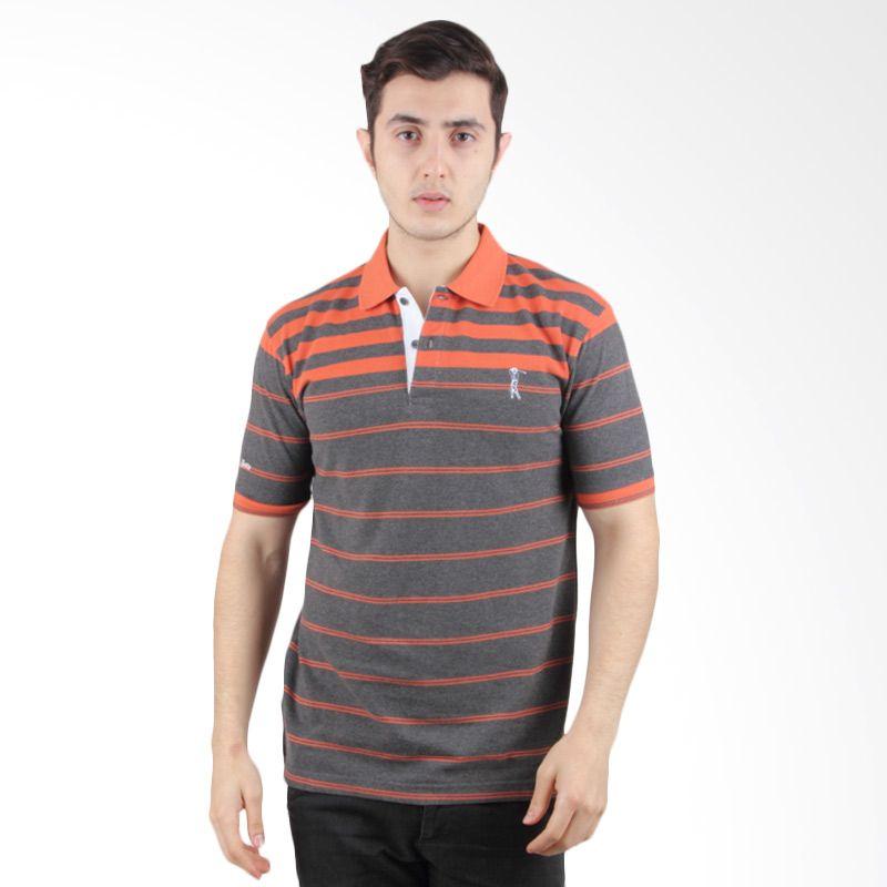 Labette Polo Shirt Dark Grey Stripe Orange 103440419