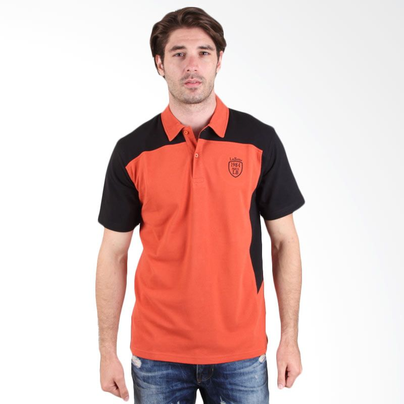 Labette Polo Shirt Orange Stripe Sleeve 102461306