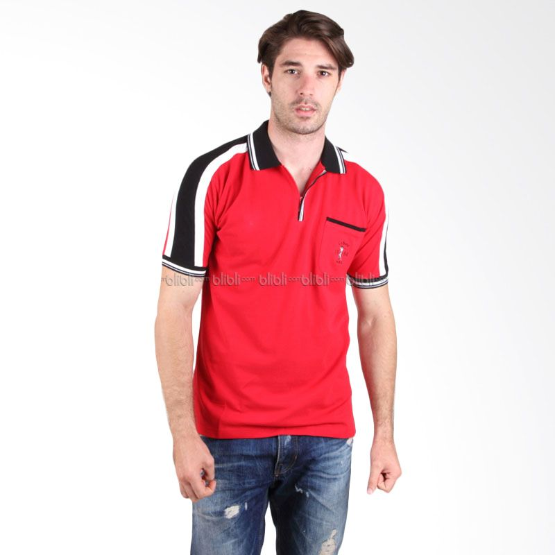 Labette Polo Shirt 102462107 Red Stripe Sleeve