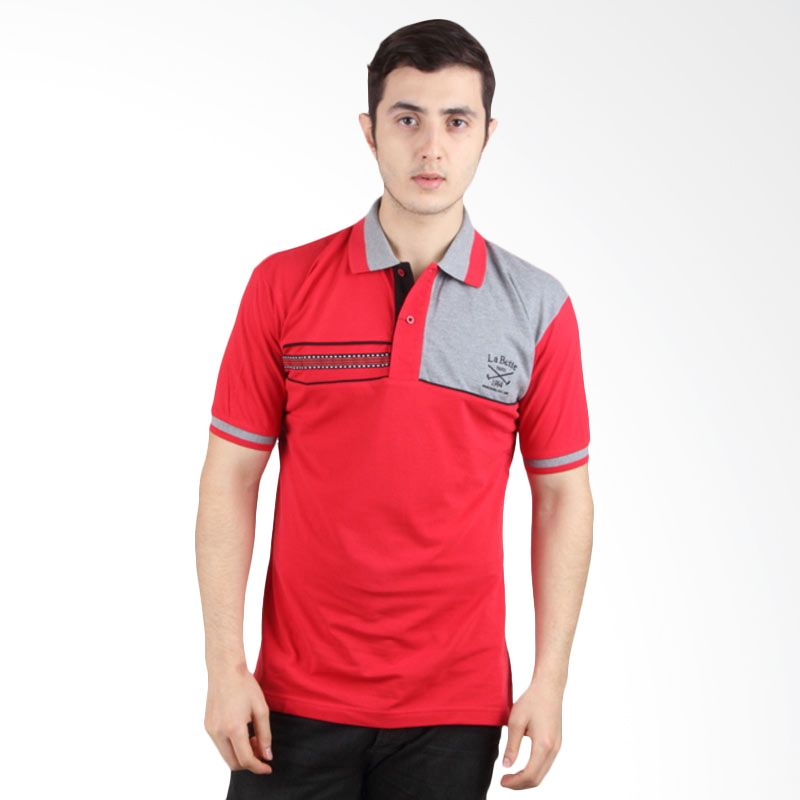 Labette Polo Shirt Red With Stripe Black 102430618