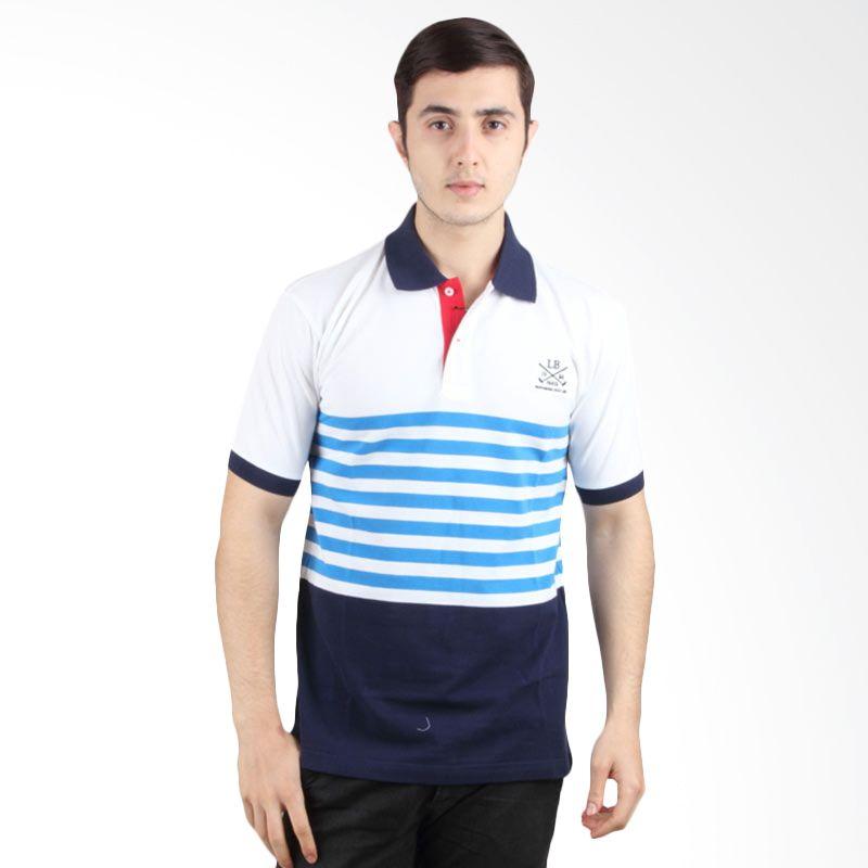 Labette Polo Shirt White Stripe Blue 103360401