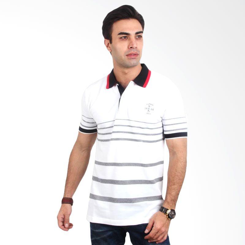 Labette Polo Shirt White Stripe Light Grey Extra diskon 7% setiap hari Extra diskon 5% setiap hari Citibank – lebih hemat 10%
