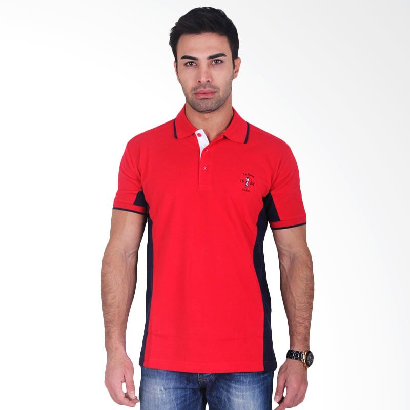 Labette Polo Shirts Red Side Black
