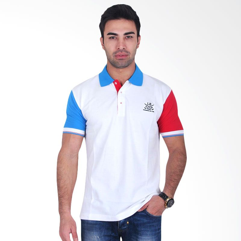 Labette Polo Shirts White Collar Blue