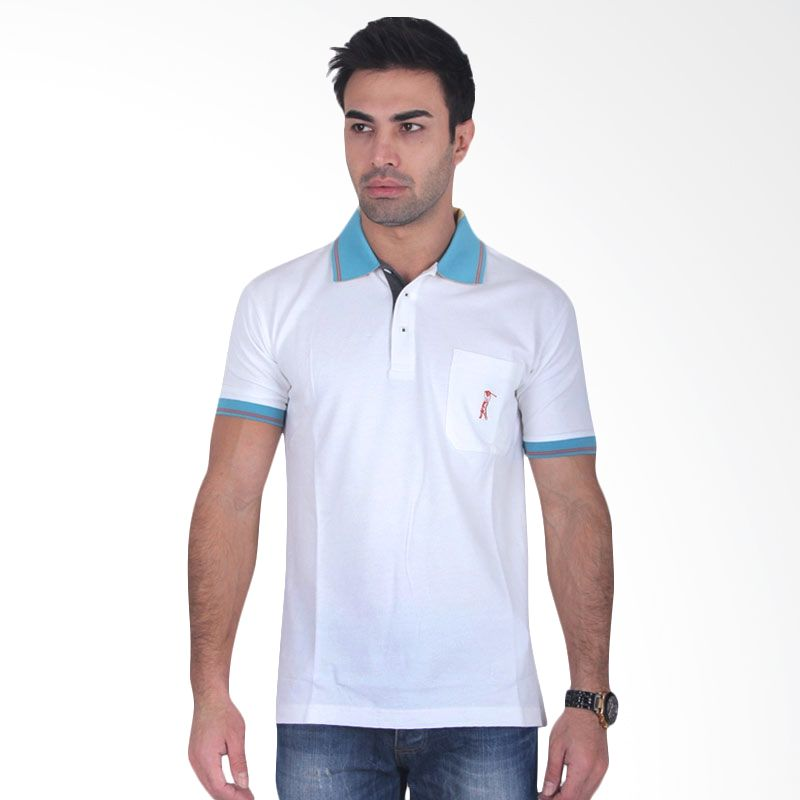 Labette Polo Shirts White Light Blue Collar
