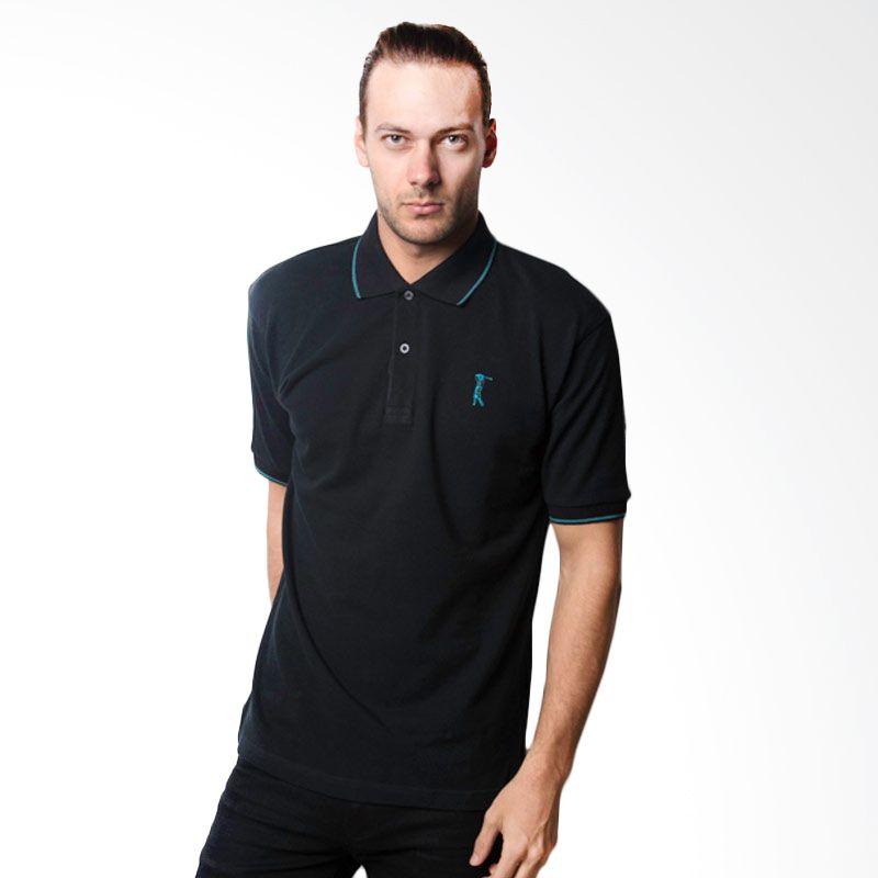 La Bette Polo Sport Solid Black Kaos Polo Pria