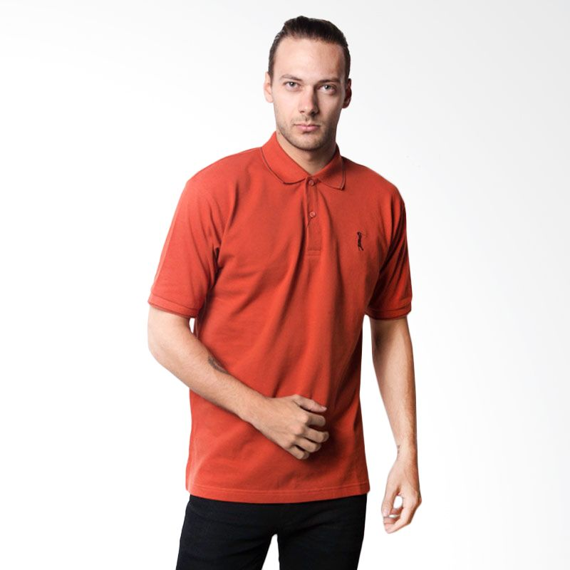 La Bette Polo Sport Solid Orange Kaos Polo Pria