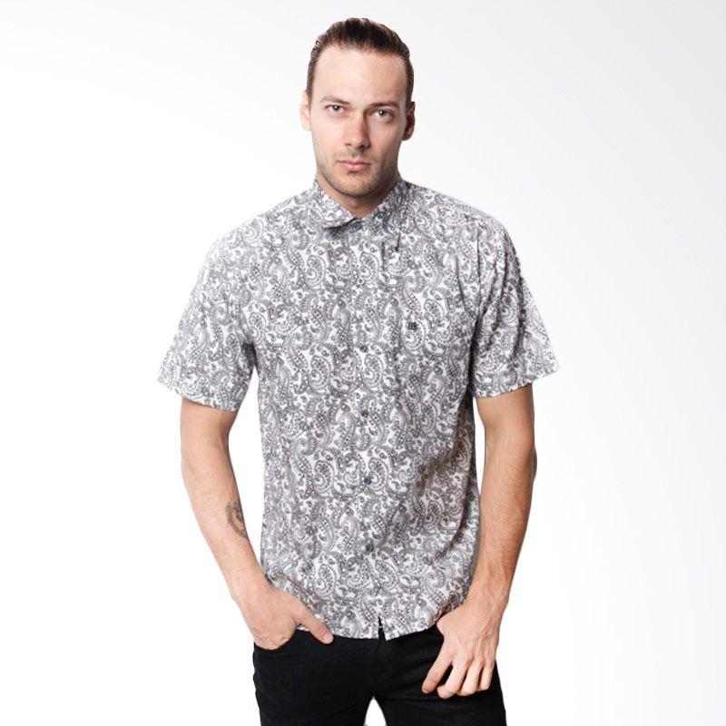 La Bette Shirt Printing White Kemeja Pria