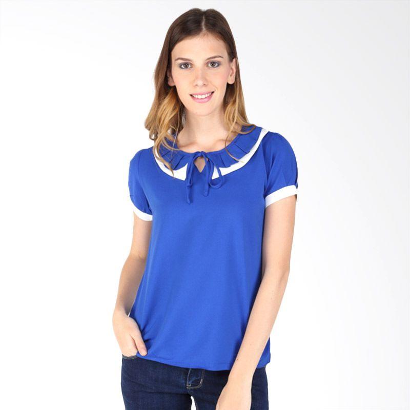 The B Club Blouse 312461611 Blue Atasan Wanita