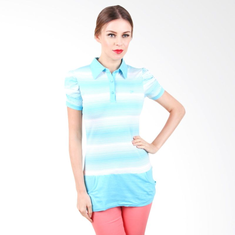 The B Club Polo Shirt Blue Stripes