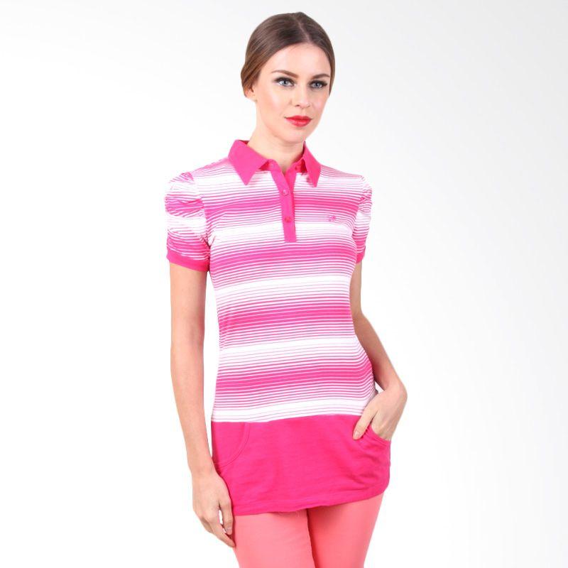 The B Club Polo Shirt Pink Stripes