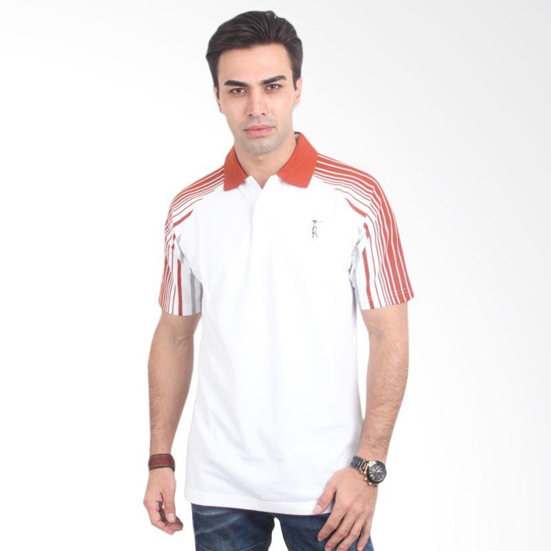 Weekend Deal - Labette Polo Shirt White Stripe Shoulder Kaos Polo Extra diskon 7% setiap hari Citibank – lebih hemat 10% Extra diskon 5% setiap hari